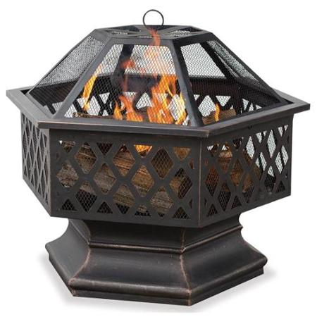 6 sided lattice fire pit