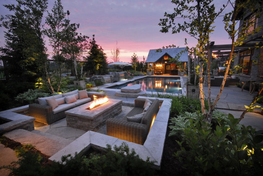 Oriflamme Fire Pit Tables ... of Pools With a Fire Pit - OUTDOOR FIRE PITS & FIRE PIT DESIGNS