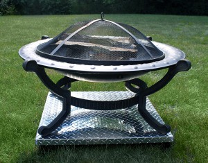 use a fire pit on a wood deck or grass safely