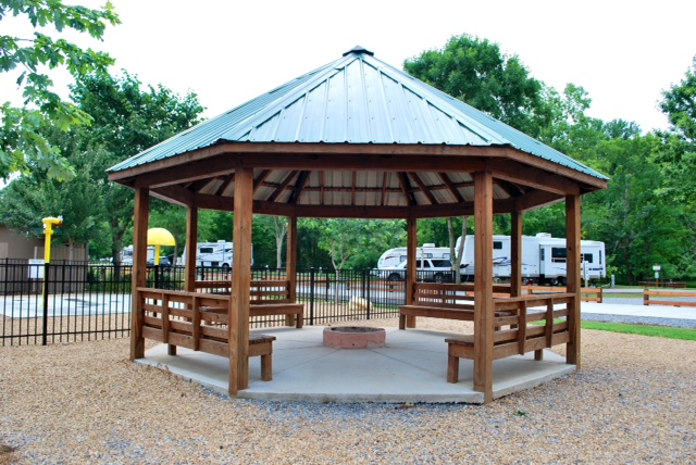 gazebo-with-fire-pit - Gazebo-with-fire-pit OUTDOOR FIRE PITS, FIREPLACES & GRILLS