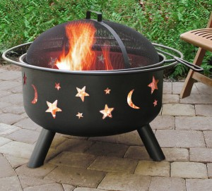 LANDMANN BIG STARS AND MOON FIRE PIT
