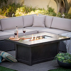 60,000 BTU Napoleon St. Tropez Patioflame Table-High BTU fire pit Table