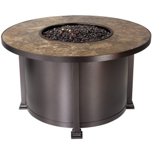 60,000 BTUs OW Lee Round Chat Height Santorini Fire Pit