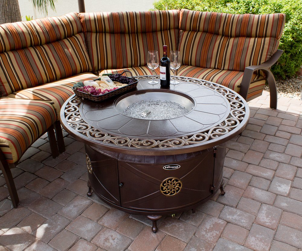 Round Cast Aluminum Decorative Fire Pit