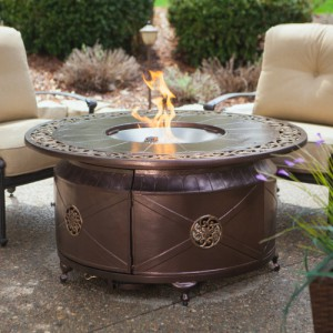 AZ Patio Heaters Round Propane Fire Pit Table