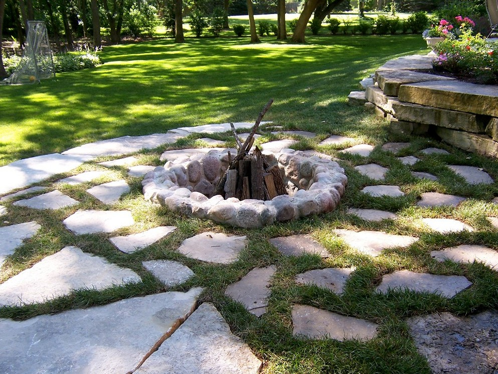 inground fire pit design