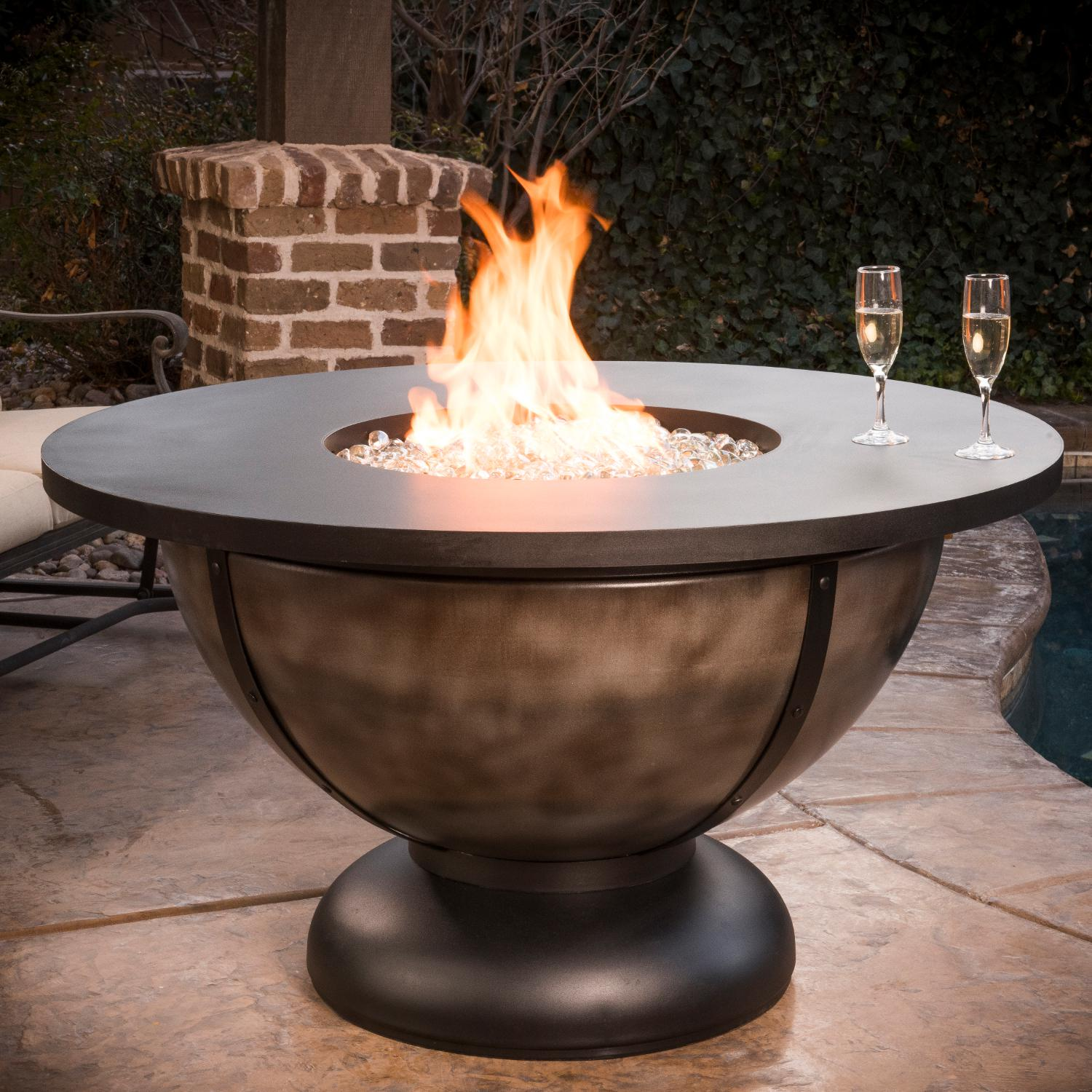 90,000 BTU Round Propane Gas Fire Table