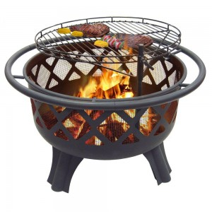 Catalina Creations Crossfire Fire Pit with Quick Removable Grill