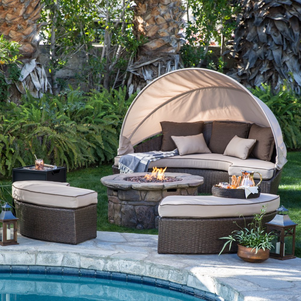 outdoor furniture set with fire pit