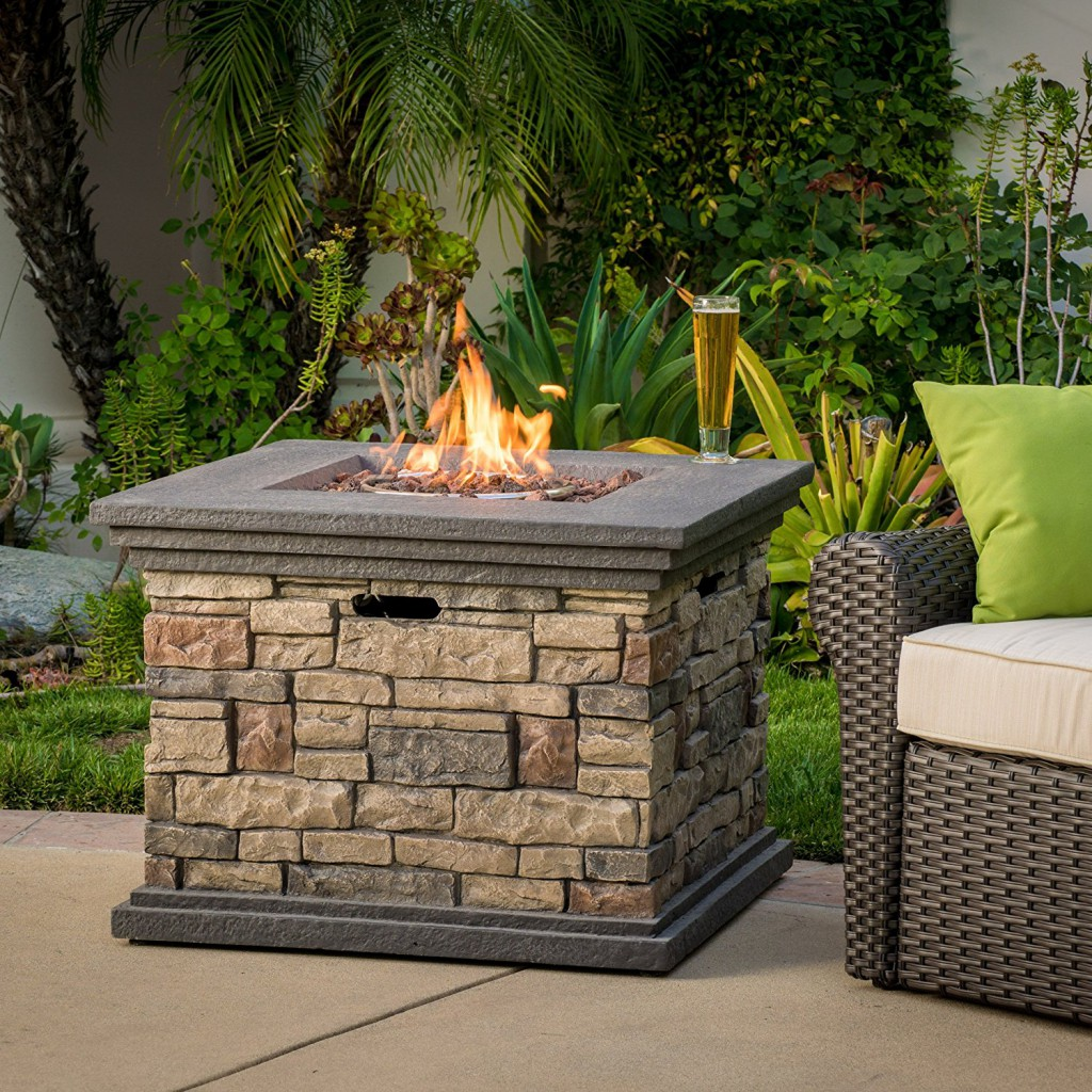 rustic stone fire pits